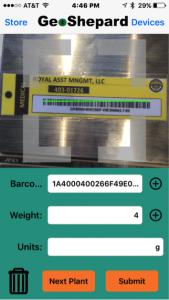 GeoScale Lite Barcode Scan